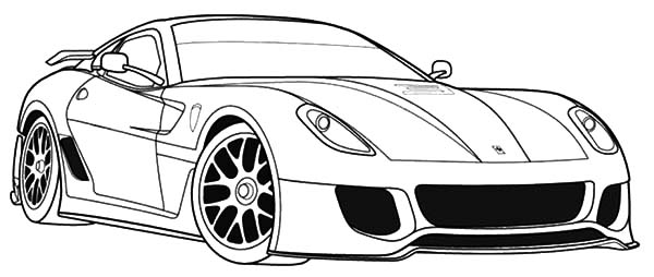Car Coloring Pages Ferrari Coloring Pages